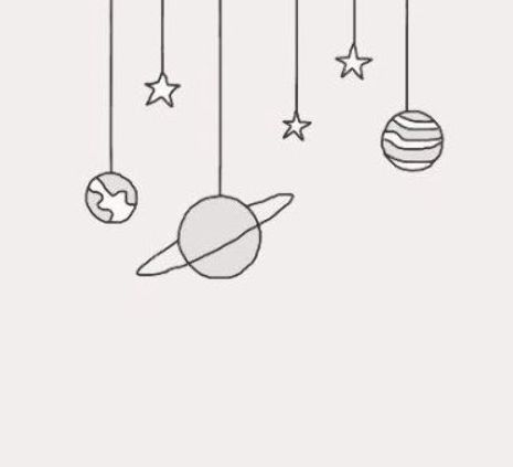 Planets And Stars Drawing Drawing Doodle Planet And Star