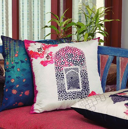 Pillow Cover Designs India: Colorful Designer Cushion Covers by Krsna Mehta   India Circus    ,