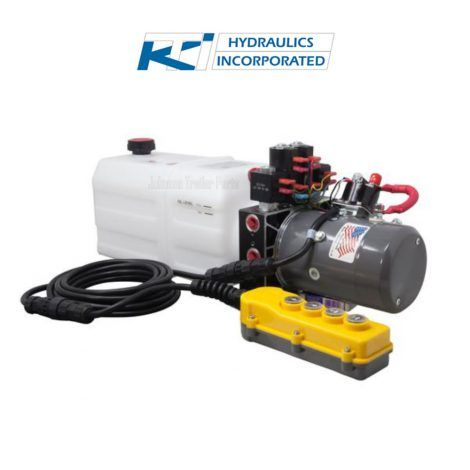 6 Quart 12v Kti Dual Double Acting Hydraulic Pump Hydraulic Systems Hydraulic Pump Hydraulic