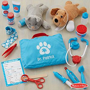 Melissa Doug Personalized Pet Vet Set Personalized Pet Pet Vet Personalised Kids