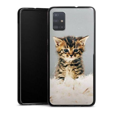 Mobile Phone Cover Kitty Samsung Galaxy A51 Cover Cat Pet Feather Samsung Galaxy Mobile Phone Covers Samsung