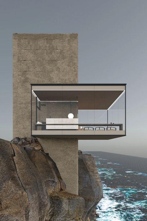 Minimalist Architecture, Modern Architecture House, Modern Buildings, Amazing Architecture, Architecture Details, Interior Architecture, Building Architecture, Glass Cabin, Design Exterior