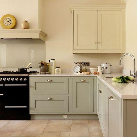 Cream and pale grey kitchen | Kitchen decorating ideas | Beautiful Kitchens | Housetohome.co.uk