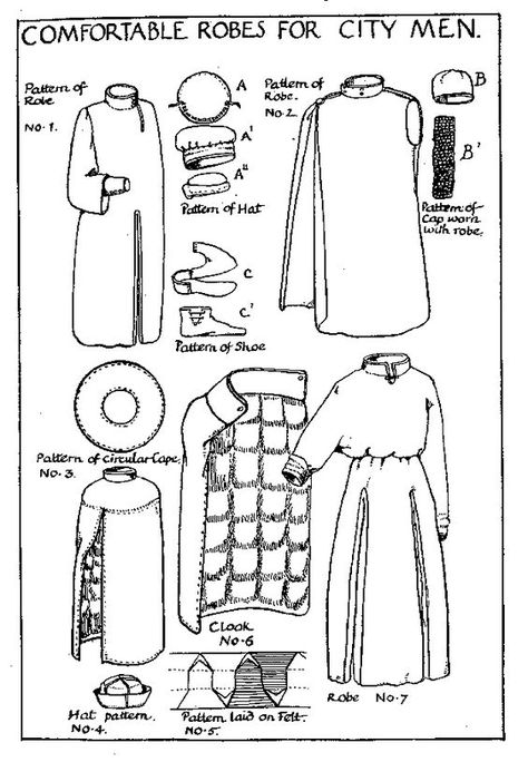 i love historical clothing: Medieval sewing patterns