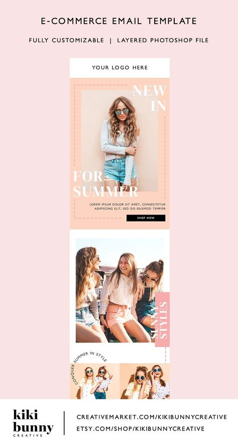 Fashion Ecommerce Email Template PSD   crystaltcreative.com