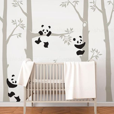 Trees With Pandas Wall Decal En 2020 Chambre Bebe Meuble