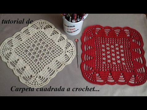 Hola En Este Video Les Voy A Ensenar A Tejer Este Lindo Tapete Cuadrado Tejido A Crochet Para Silla Posavasos De Ganchillo Cuadros A Crochet Ganchillo Carpetas