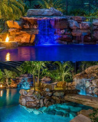 From Mild To Wild Insane Pools Special In Tampa Florida Lucas Lagoons Insane Pools Pool Waterfall Dream Pools
