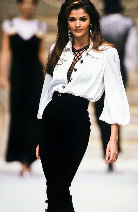 Womens Fashion - Helena Christensen for Valentino Spring/Summer 1993