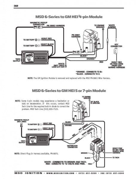 msd digital 6 wiring diagram valid msd hei distributor