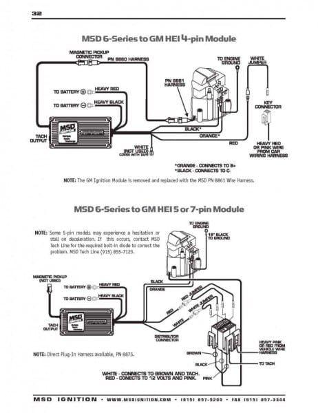 msd digital 6 wiring diagram valid msd hei distributor