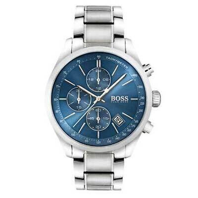 Sponsored Brand New Hugo Boss Grand Prix Silver Stainless Steel Chrono Men Watch Hb1513478 Hugo Boss Watches Watches For Men Chronograph