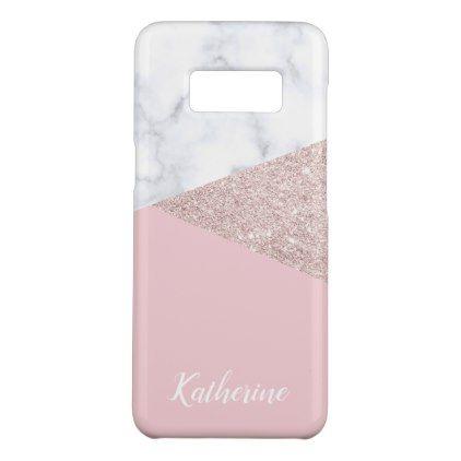 Elegant Girly Rose Gold Glitter White Marble Pink Case Mate Samsung Galaxy Case Zazzle Com Rose Gold Style Rose Gold Glitter Pink Cases