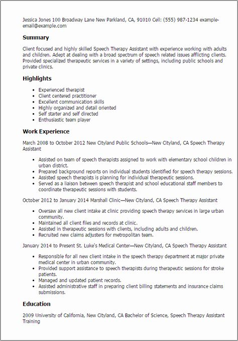 Speech Language Pathologist Resume Examples Lovely Work Experience Speech Example How To Write A Sp Speech And Language Resume Examples Cover Letter For Resume