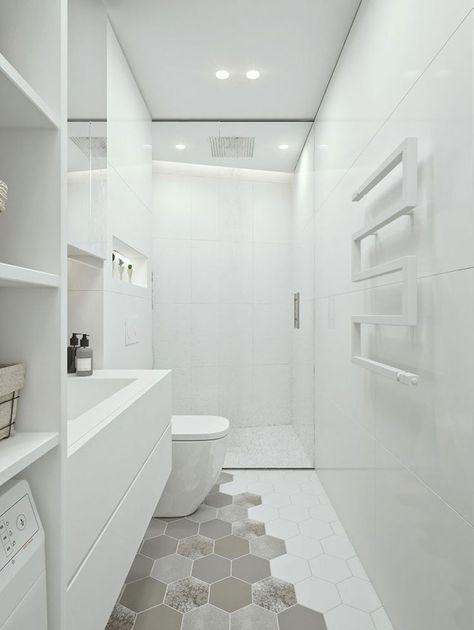 Bagno Moderno Bianco E Nero.Bagno Bianco 20 Idee Di Arredamento Moderno Ed Elegante Arredo