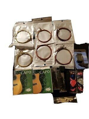 Acoustic Guitar Accessories Kit Strings Tuner Capo Winder In 2020 Acoustic Guitar Accessories Guitar Accessories Acoustic Guitar