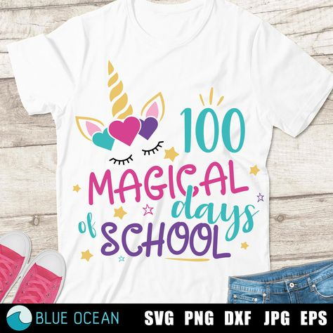 100 magical days of school SVG, 100 days of school SVG, 100 days SVG