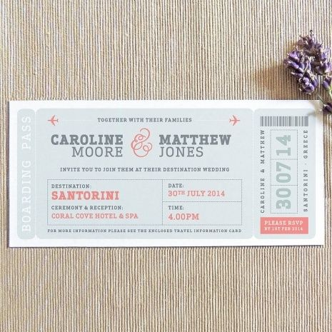Boarding Pass Wedding Invites Wedding Ideas Pinterest - plane ticket invitation template