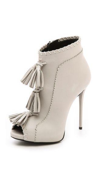 Giuseppe Zanotti White Fringed Tassels  Coline  Leather Booties €1 6e7ead2374