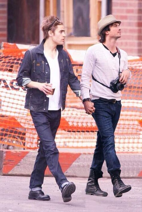 Omfg this looks so real  Paul Wesley and Ian Somerhalder photoshop keeps getting better and better!