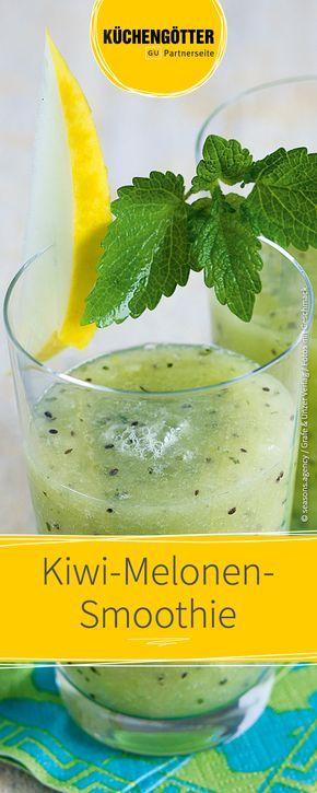 Melone und Kiwi Smoothie zur Gewichtsreduktion