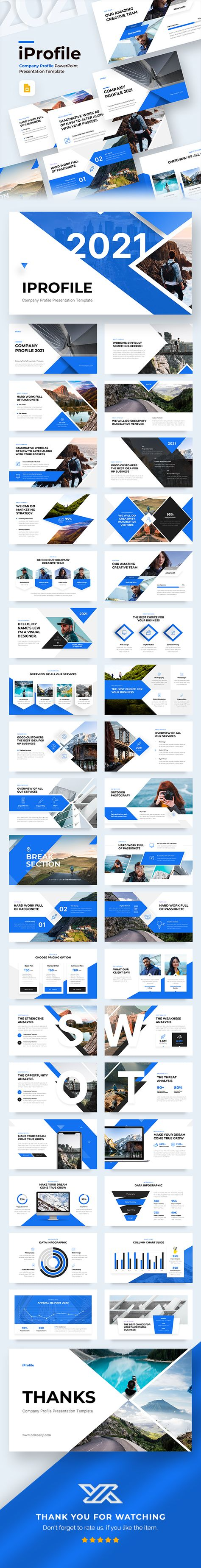 Iprofile - Company Profile Google Slides Presentation Template