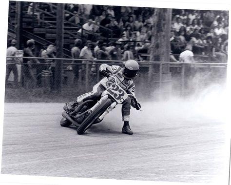 FLAT TRACK, DIRT TRACK #phm.56332 Photo BOB SHOLLY 1965 Motorcycle Moto
