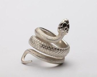 7 mm Head Little Treasures Sterling Silver Unisex Ouroboros Snake Thumb Ring
