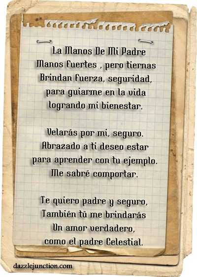 Fathers Day Spanish Father Poem Picture   Quotepaty.| Quotes