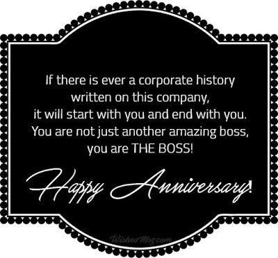 Happy Anniversary Boss Anniversary Boss Happy Work Anniversary Anniversary Quotes Funny Happy Anniversary Quotes