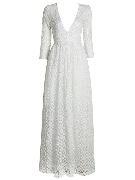 261c64c7b84dd Shop White Plunge Neck Sheer Embroidery 3/4 Sleeve Prom Dress from  choies.com .Free shipping Worldwide.$28.99