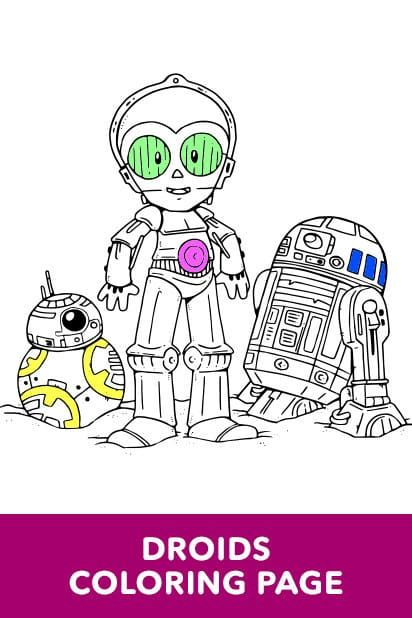Star Wars Art Of Coloring Droids Unicorn Coloring Pages Star Wars Colors Cute Coloring Pages