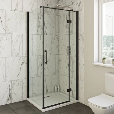 Mode Cooper 8mm Black Hinged Shower Enclosure Shower Enclosure Quadrant Shower Quadrant Shower Enclosures