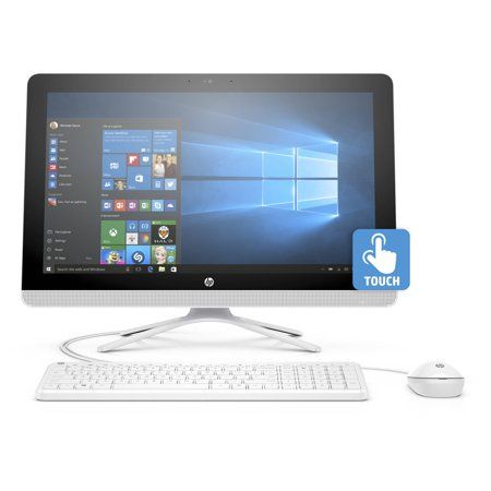 Hp 22 B013w Snow White All In One Pc With 21 5 Full Hd Ips Touch Display Intel Pentium J3710 Processor 4gb Memory 1tb Hard Drive And Windows 10 Home Walma In 2020 All