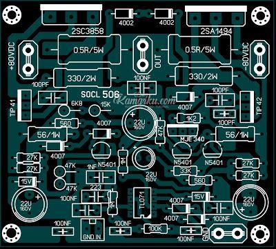 Pcb Layout Socl 506 Amplifire Lapangan Terbaru Di 2021 Rangkaian Elektronik Desain Tata Letak Tata Letak
