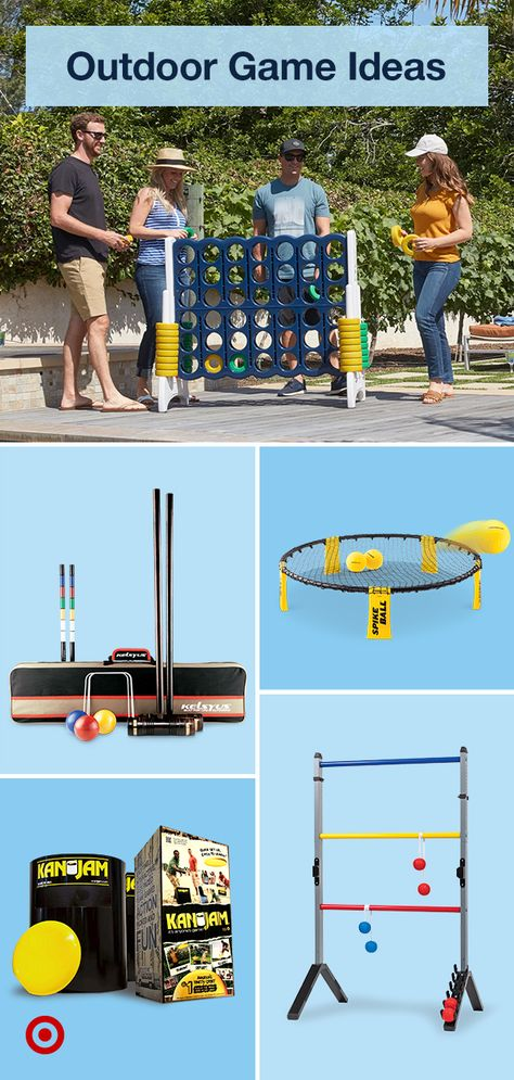 Take the fun outdoors with backyard games  activities like bocce ball, cornhole  more to enjoy with family.
