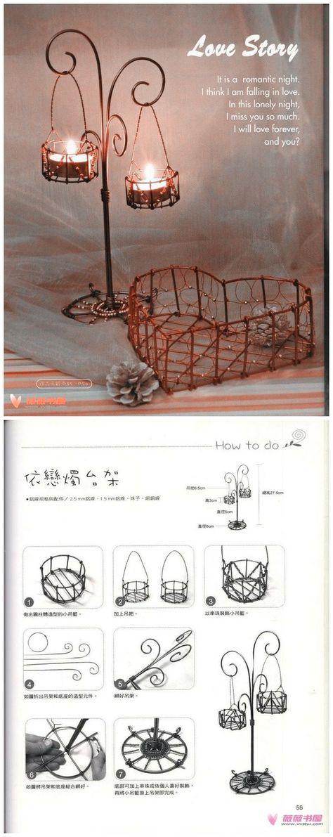 Wire Art Wire votive holder Aluminum Hand - Candlestick holder attachment
