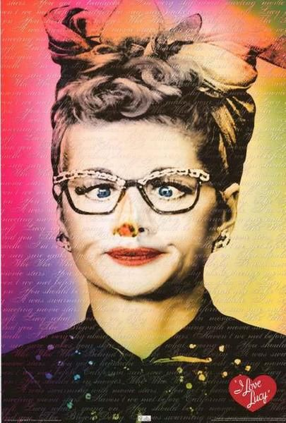 I Love Lucy Lucille Ball Funny Face Poster 24x36 – BananaRoad