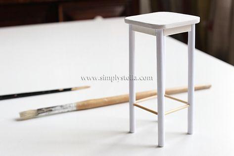 Simplystella's Sketchbook: Miniature Barstool (DIY Step by Step)