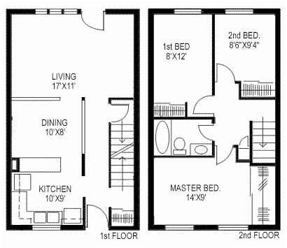 3 Bedroom Duplex Plans Duplex Floor Plans Small House Floor Plans Duplex House Plans