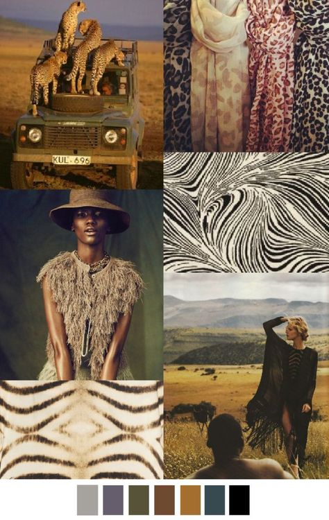 S/S 2016 pattern & colors trends: Safari Aventure
