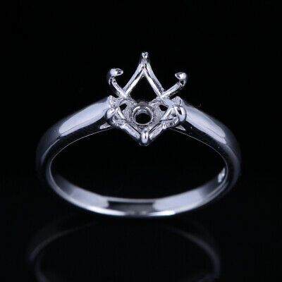 Ebay Advertisement 14k White Gold 9x 6mm Oval Prong Setting Engageme In 2020 Silver Solitaire Engagement Ring Prong Engagement Rings Diamond Engagement Rings Vintage