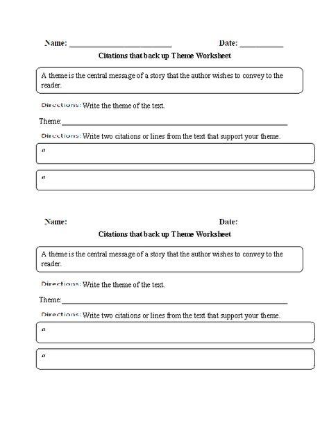 Circling Theme Worksheet | Theme, tone, setting snd characters ...