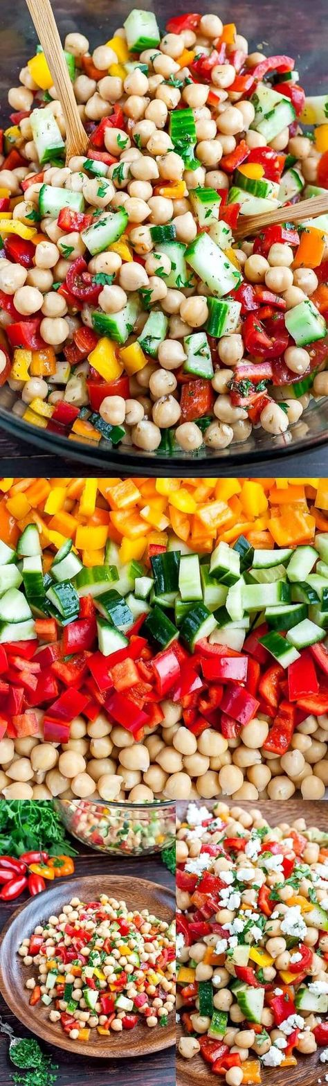 Greek Chickpea Salad Recipe - Vegetarian and Gluten-Free