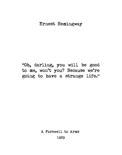 Ernest Hemingway, Wall Art, Book Quotes, Home Decor, Book Lover Gift, Inspiring Quotes, Vintage Art,