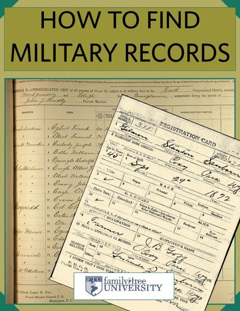 How to Find Your Ancestor's US Military Records Free eBook