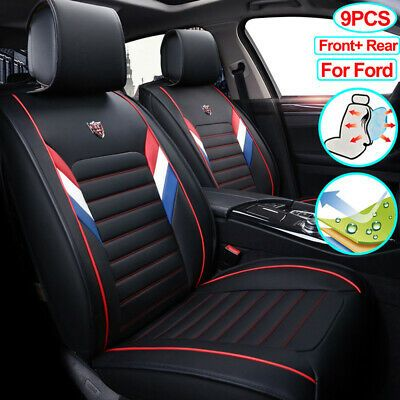 Ad Ebay 9pcs Car Seat Cover Set Pu Leather Seat Covers Fit For Ford Escape Edge Focus Leather Car Seat Covers Car Seat Cover Sets Leather Car Seats