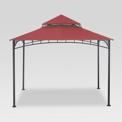 Madaga 10 X 10 Replacement Gazebo Canopy Red Thresholda 20 Replacement Madaga Gazebo Gazebo Gazebo Canopy Rustic House
