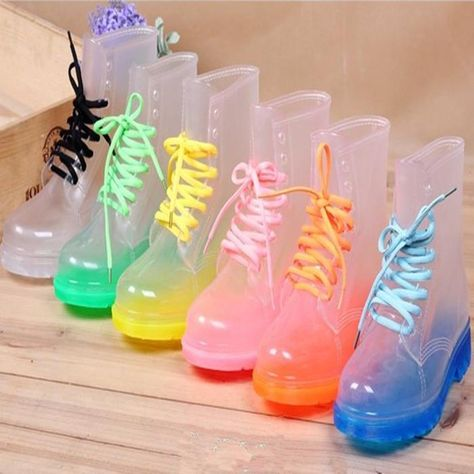Transparent Women Boots Anti-Slip Waterproof Galoshes Jelly Rain Shoes Zsell - Clear Boots - Ideas of Clear Boots - Transparent Women Boots Anti-Slip Waterproof Galoshes Jelly Rain Shoes Zsell Price : Kawaii Shoes, Kawaii Clothes, Rain Shoes, Water Shoes, Clear Rain Boots, Women's Rain Boots, Women's Shoes, Clear Shoes, Punk Shoes