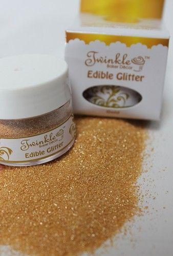 Fully Edible Hologram Jewel Gold Cupcake Glitter
